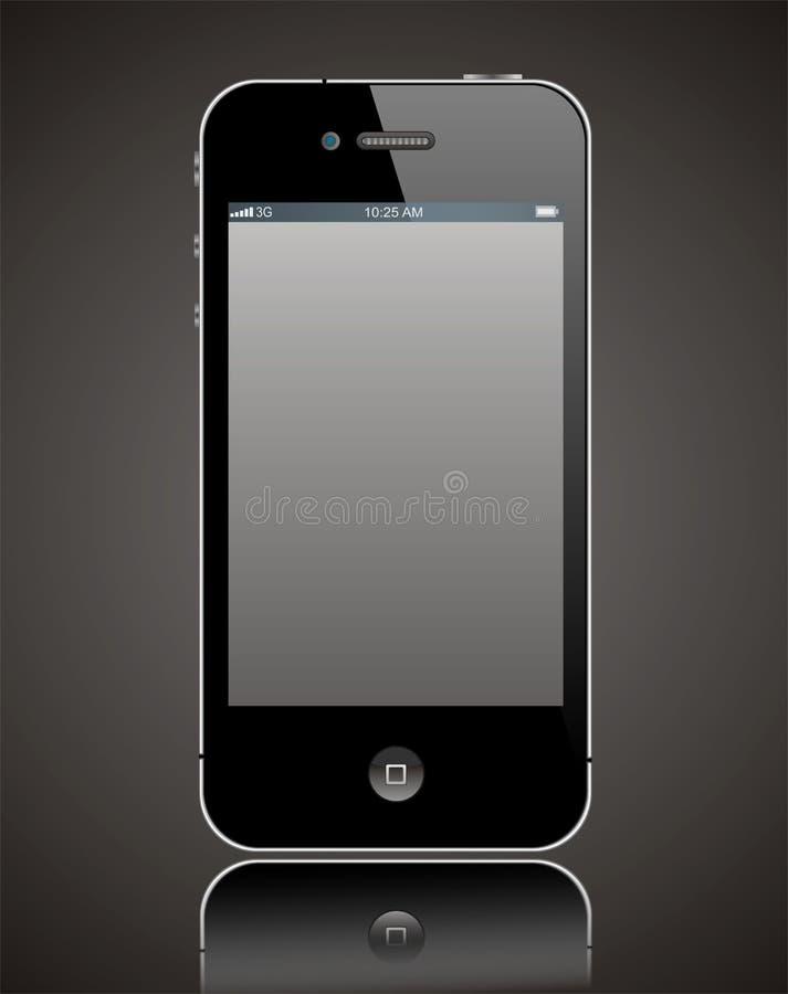 iphone för 4 äpple stock illustrationer