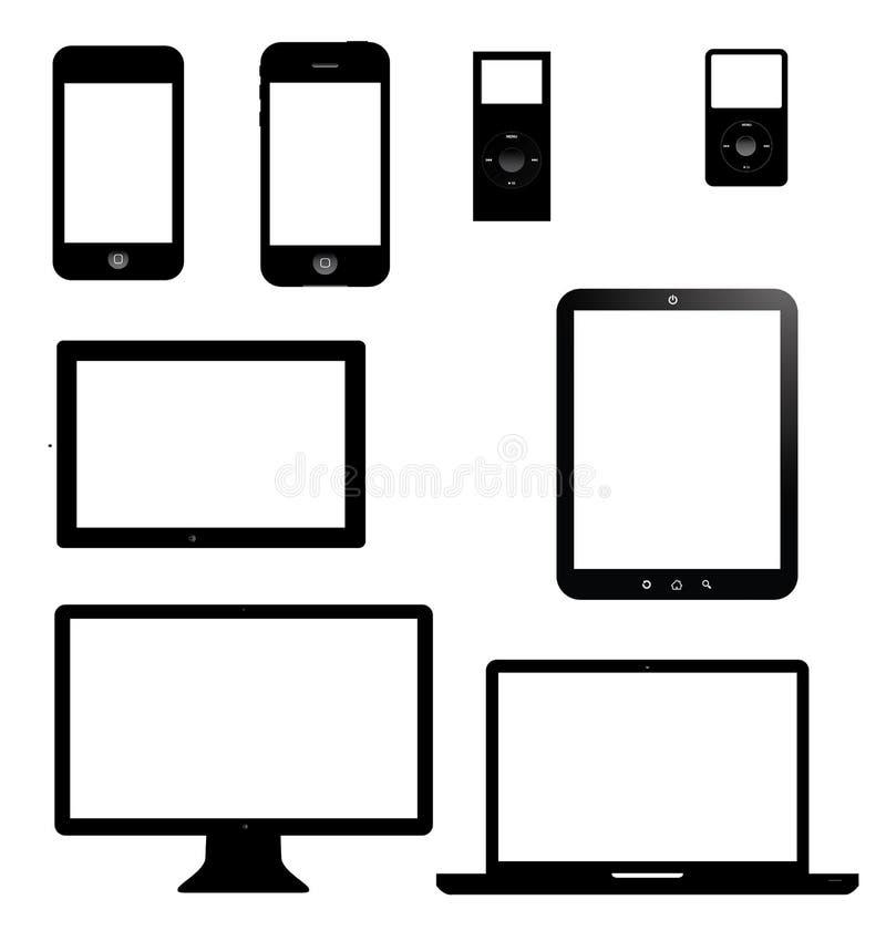 Iphone för ipad för Apple imacmac royaltyfri illustrationer