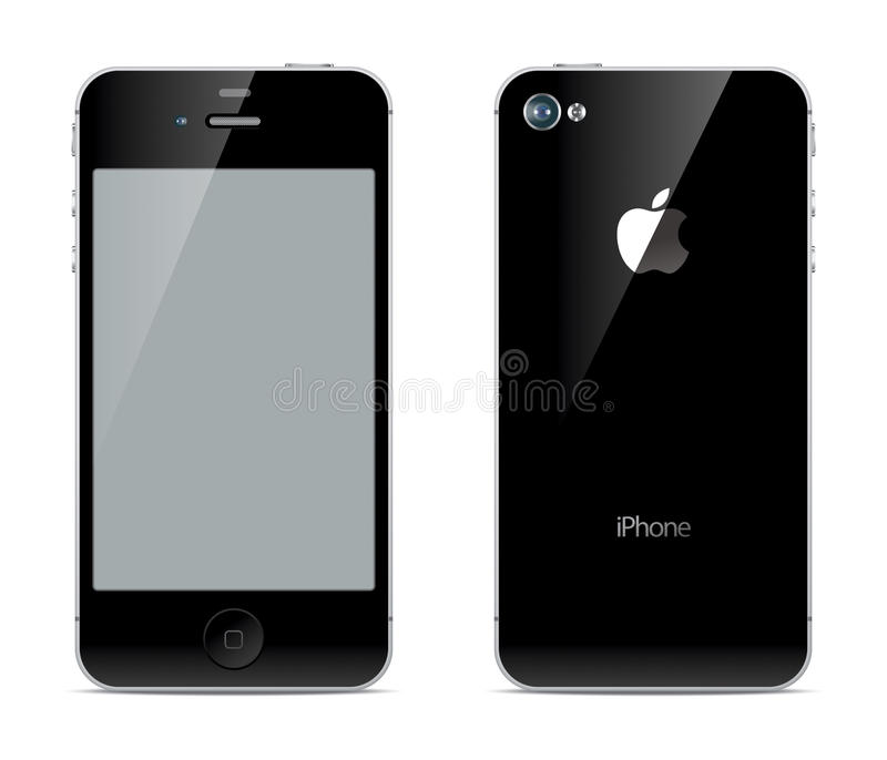IPhone front and back sides vector illustration