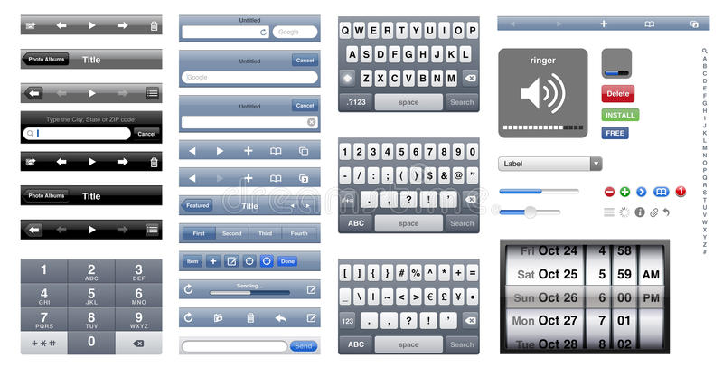 Iphone grafische os stock illustratie