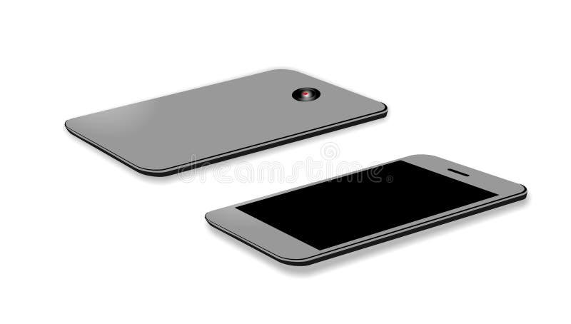 Iphone X Hoofdartikel dat op witte vectorillustratie wordt geïsoleerd als achtergrond Technologiemededeling vector illustratie