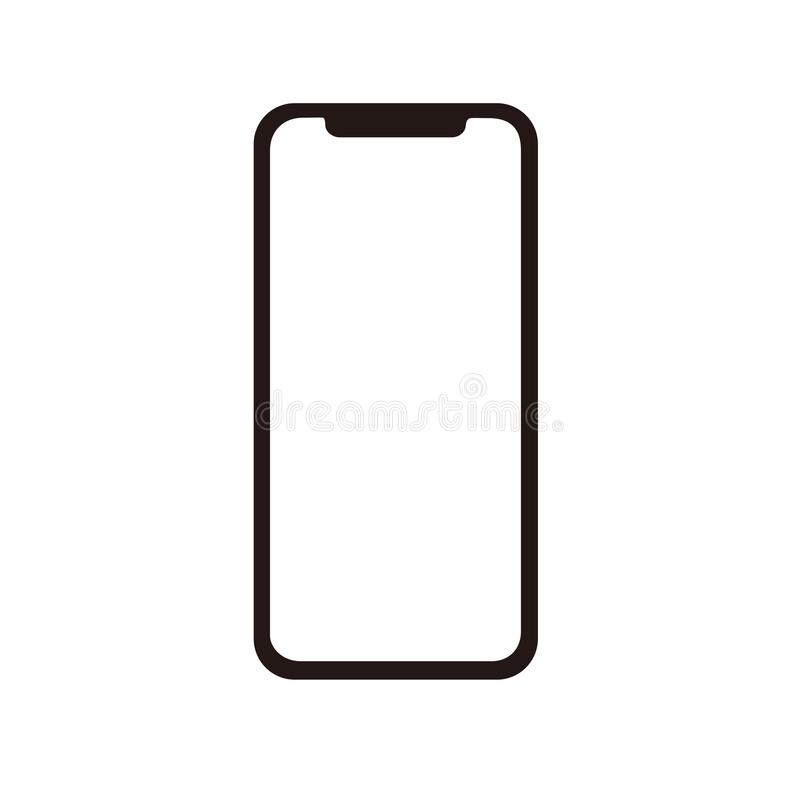 Iphone x ikona dla wektoru ilustracja wektor