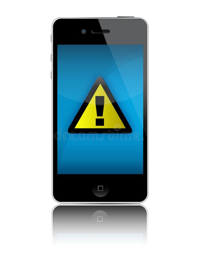 iphone ingen signalering vektor illustrationer