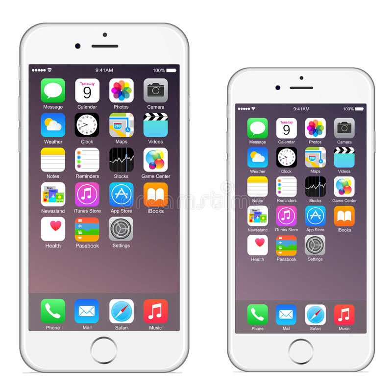 Iphone 6 Iphone 6 plus vektor illustrationer