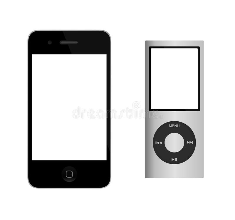 iphone iPod vektor illustrationer