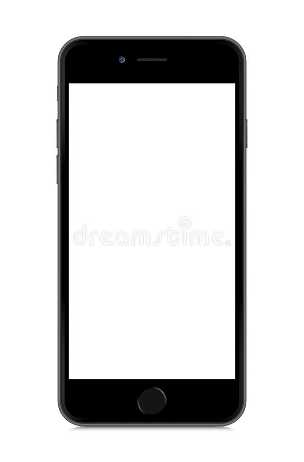 IPhone 6 isolated on white. The New iPhone 6 Illustration Vector in eps 10 format. - isolated on white with blank screen