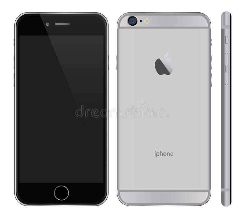 Iphone 6 más ilustración del vector