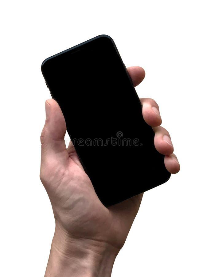 IPhone X mascherato immagine stock