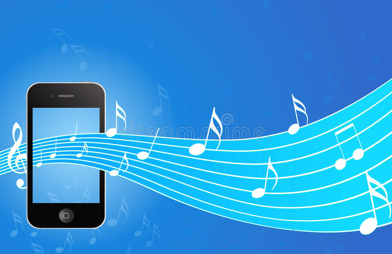 Download IPhone With Music Background Editorial Stock Photo - Image: 26590228