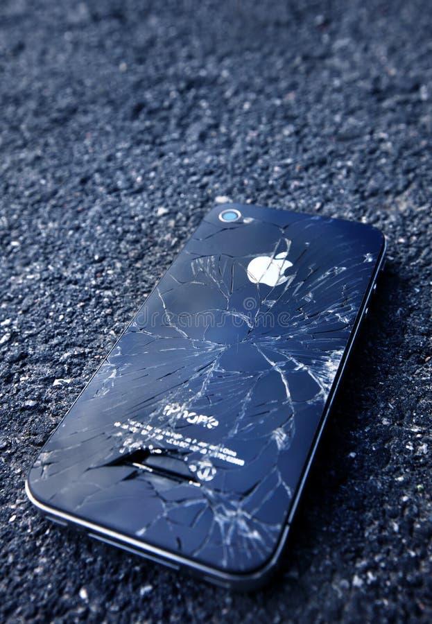 IPhone negro foto de archivo