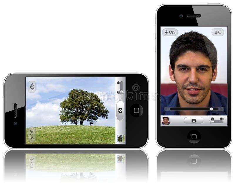 iPhone neuf 4 avec l'appareil-photo de 5 megapixel illustration libre de droits