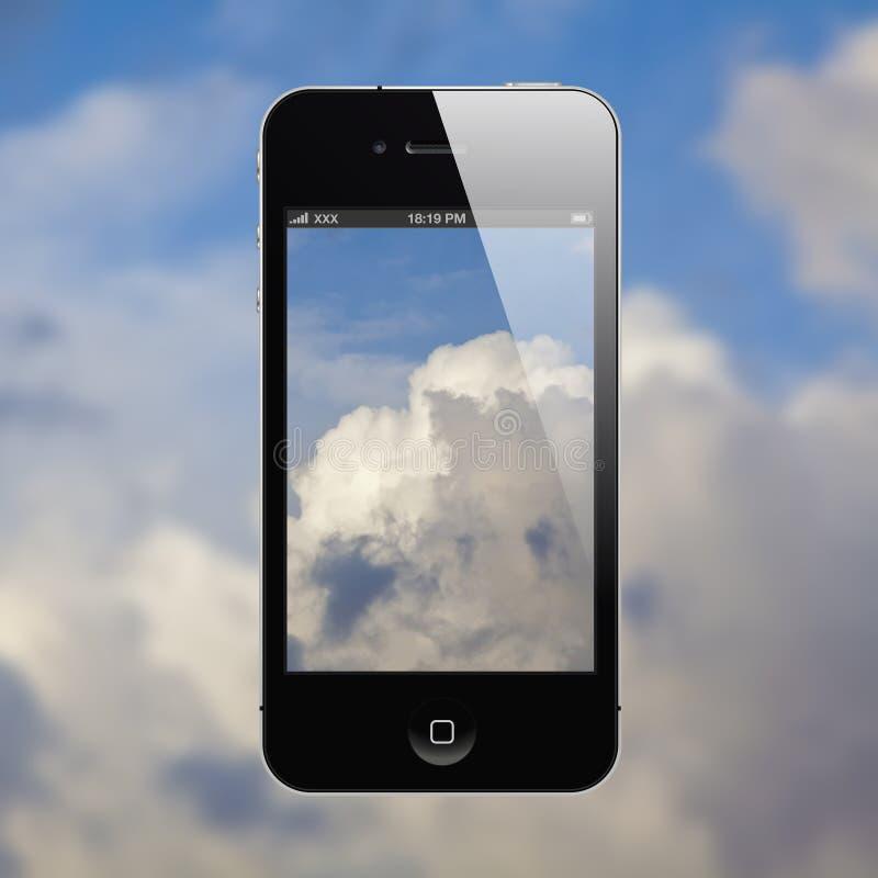 iphone nieba whit royalty ilustracja