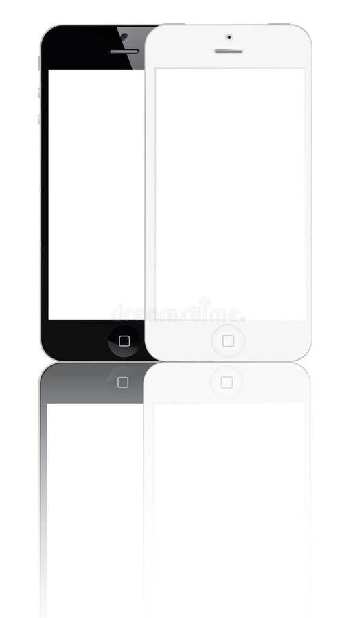 Iphone novo 5 ilustração do vetor