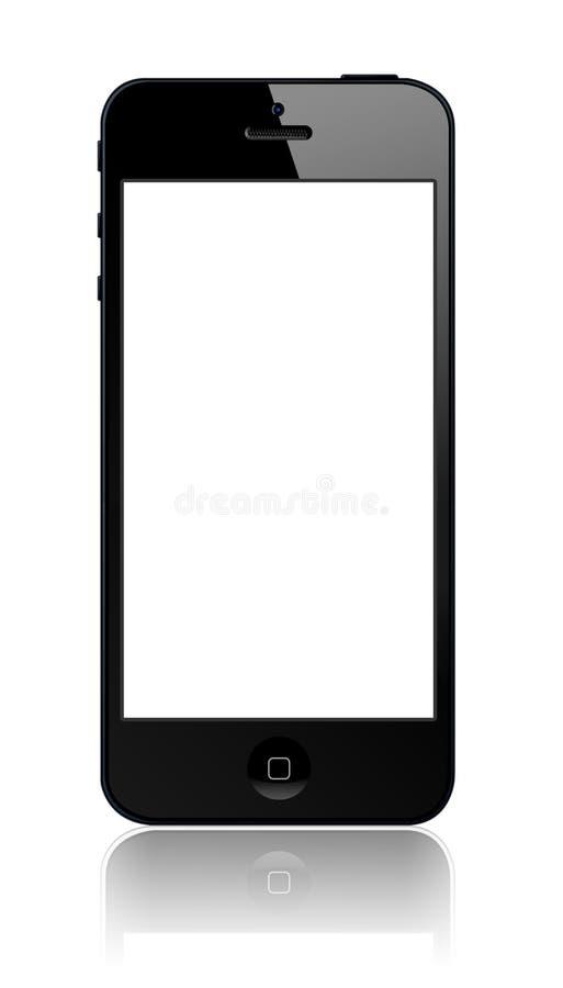 iPhone novo 5 de Apple ilustração royalty free