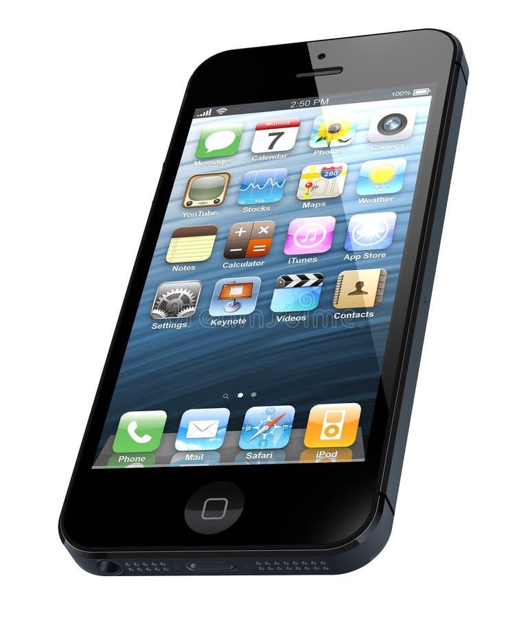 IPhone Novo 5 De Apple Imagem Editorial