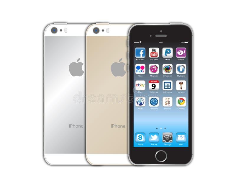 Iphone novo 5s de Apple ilustração stock