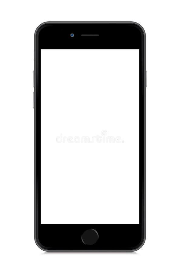 IPhone 6 op wit wordt geïsoleerd dat royalty-vrije illustratie