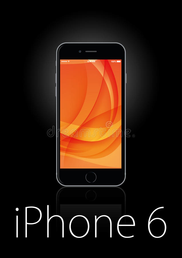 Iphone 6 plus stock illustration