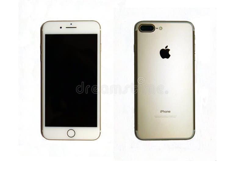 Iphone 7 plus złocisty kolor zdjęcie royalty free