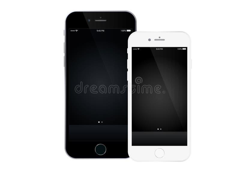 Iphone 6 positivo ilustração stock