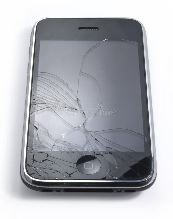iPhone quebrado imagenes de archivo