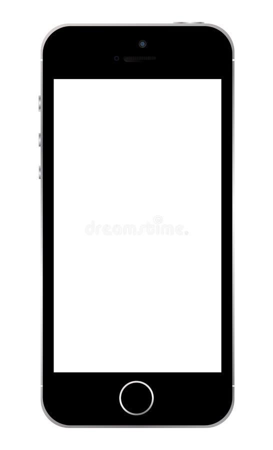 Iphone 5s模板 向量例证