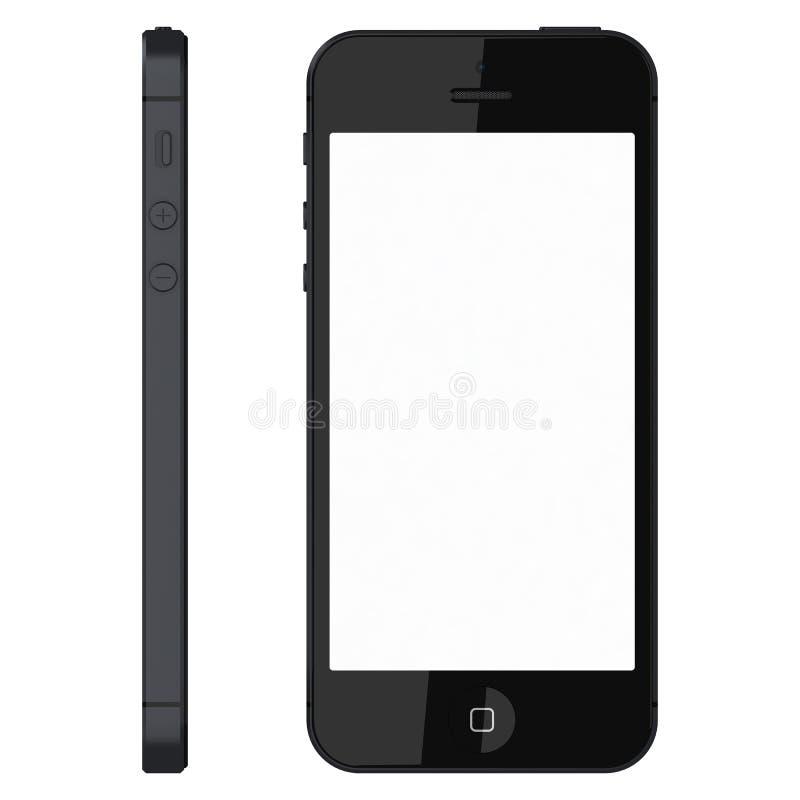 IPhone 5s黑色 向量例证