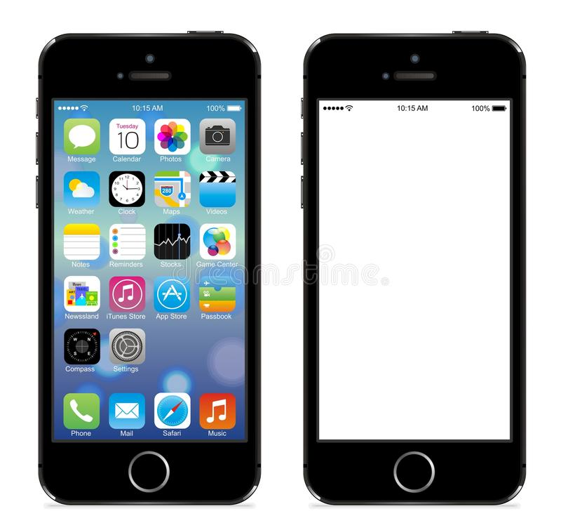 Iphone 5s. Apple iphone 5s black vector illustration eps 10