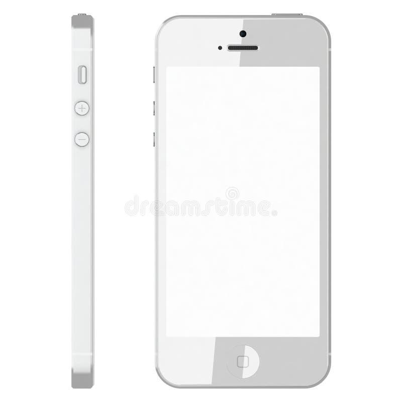 IPhone 5s biel ilustracja wektor