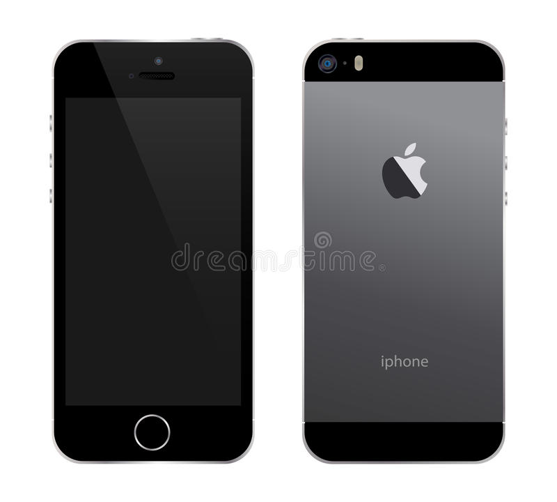 Iphone 5s black. An illustration of the new black iphone 5s. An additional Vector .Eps file available. (you can use elements separately