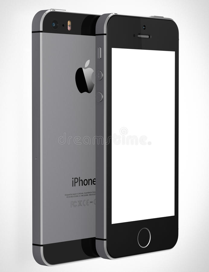 IPhone 5s with blank screen stock illustration