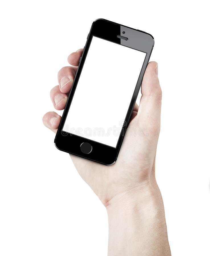 Iphone 5s curvado a disposición foto de archivo