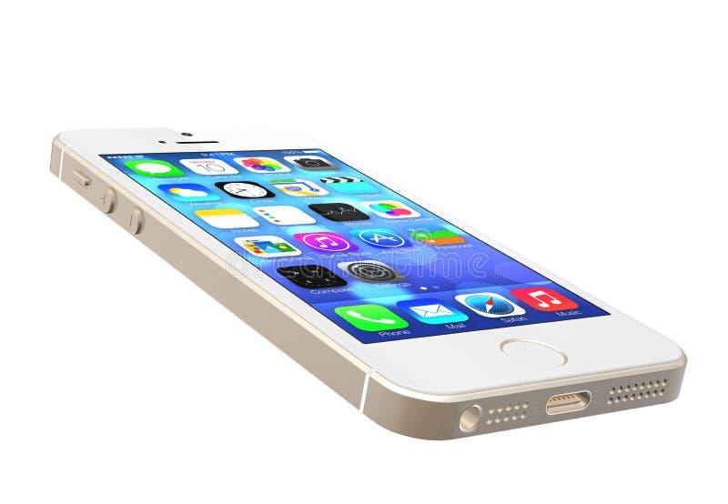 IPhone 5s d'or photo libre de droits