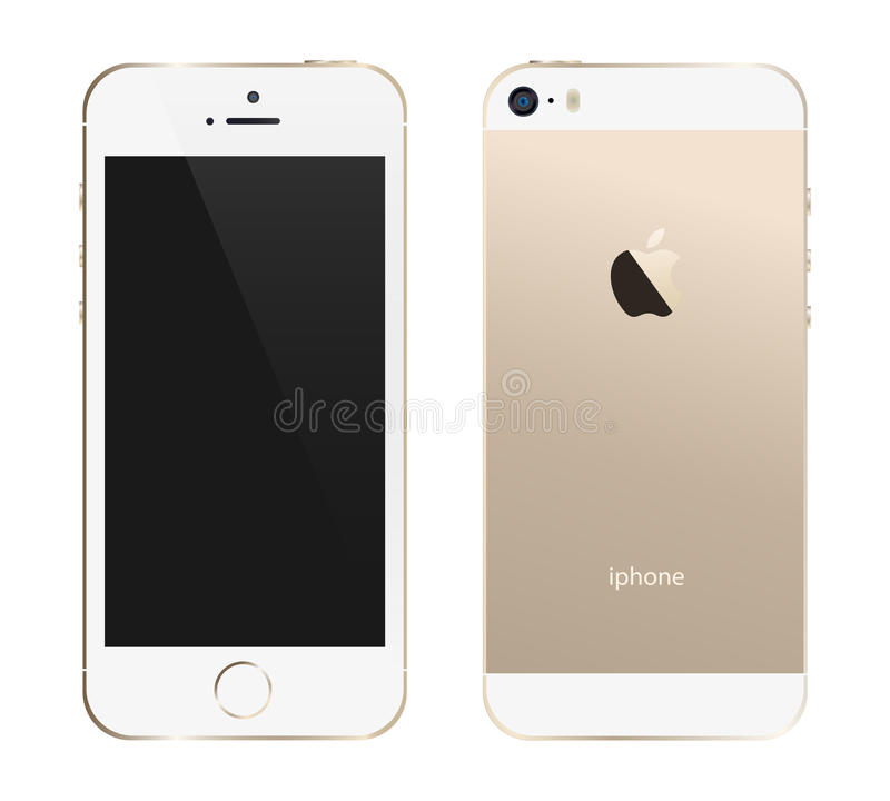 Iphone 5s guld royaltyfri illustrationer