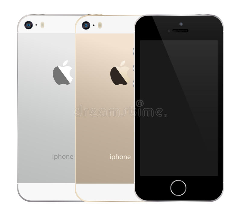 Iphone 5s. The latest iphone 5s illustration in available colors. An additional Vector . Eps file available. (you can use elements separately royalty free illustration