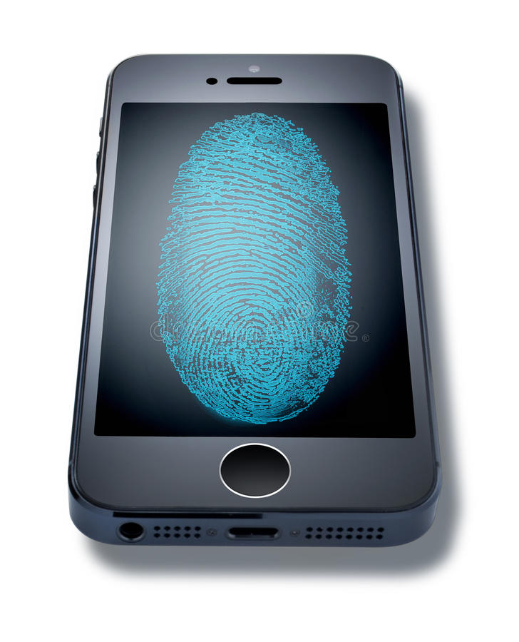 Download Iphone Fingerprint Cell Phone Editorial Photo - Image: 33587861
