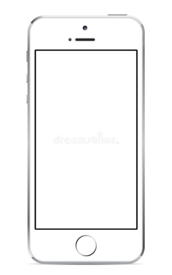 Iphone 5s vit royaltyfri illustrationer