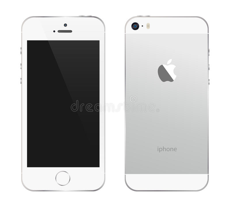 Iphone 5s white. An illustration of the new white iphone 5s. An additional Vector .Eps file available. (you can use elements separately