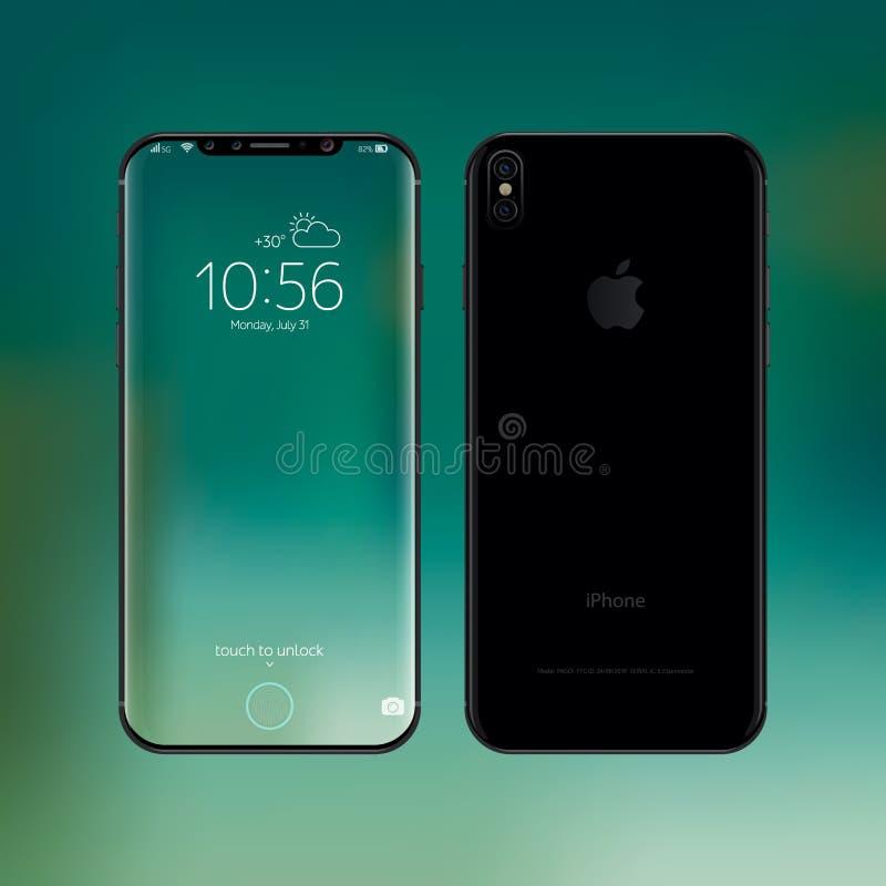 IPhone 8 vectorillustratie stock illustratie