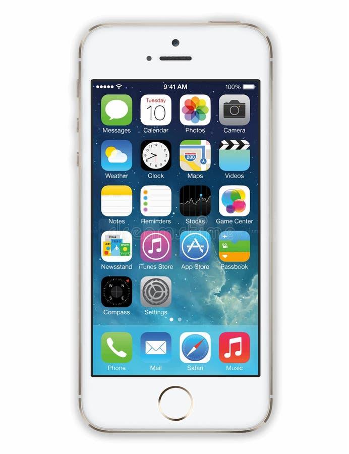 Iphone 5 VEKTOR royaltyfri illustrationer