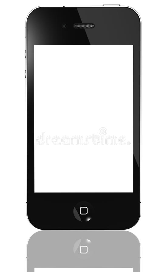 IPhone vierde geïsoleerde gen royalty-vrije illustratie
