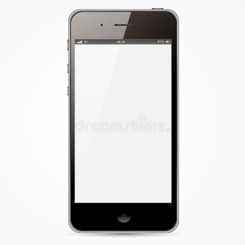 IPhone with white screen. New wide iPhone white screen and black border
