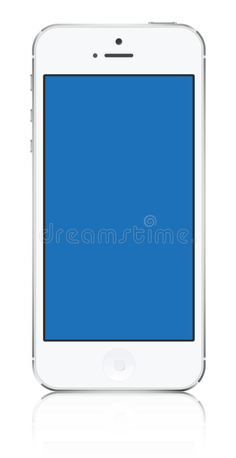 Iphone 5 witte vector vector illustratie