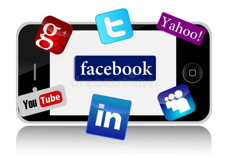 IPhone y redes sociales libre illustration