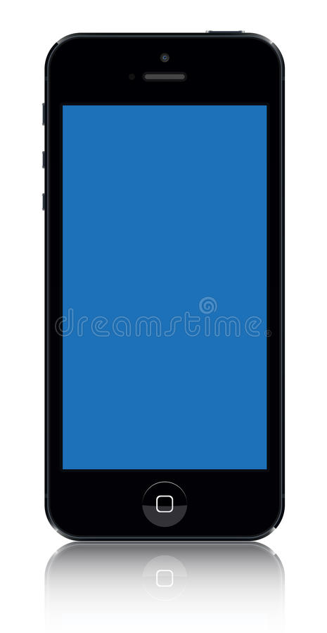 Iphone 5 zwarte vector royalty-vrije illustratie
