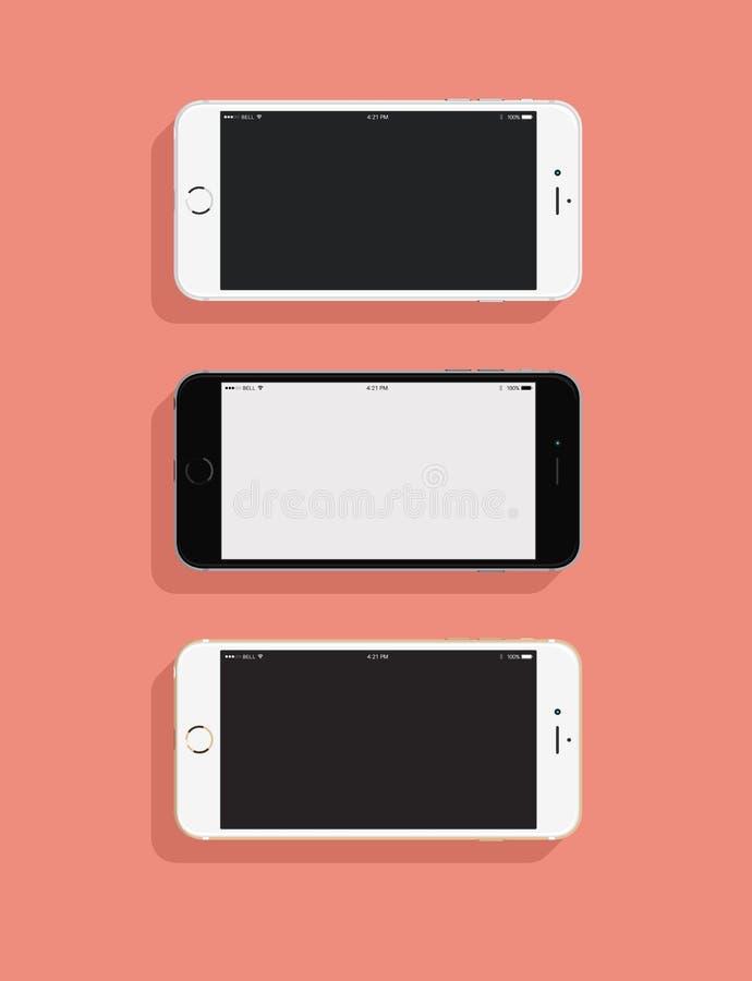 3 IPhones libre illustration
