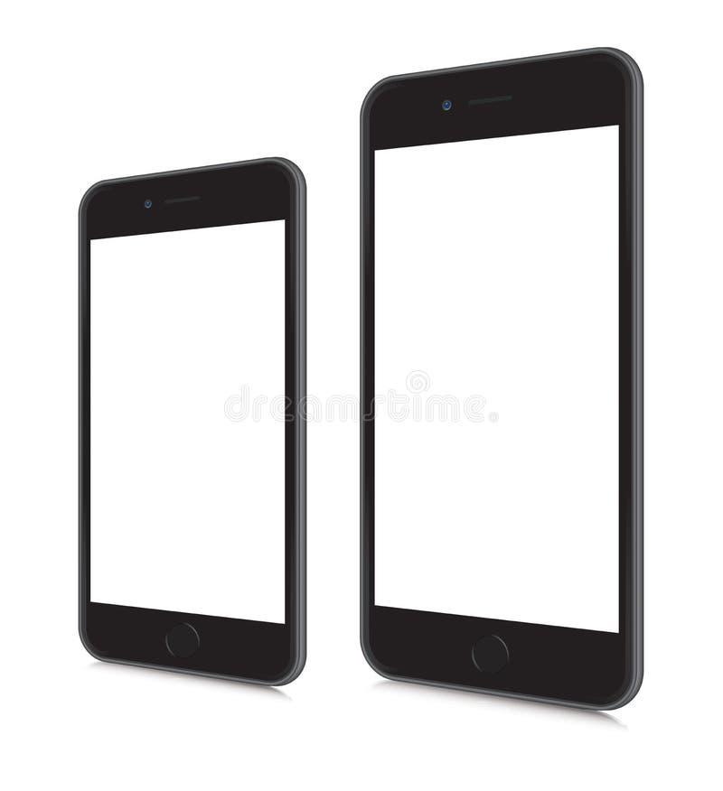 iPhones 6 e 6 più illustrazione di stock