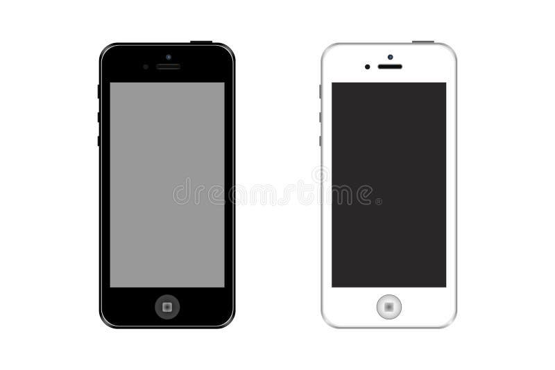 Iphones lokalisierte auf weißem Hintergrund Auch im corel abgehobenen Betrag lizenzfreie abbildung