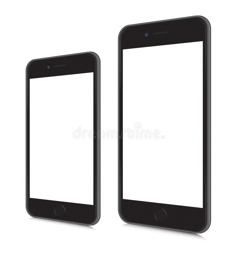 iPhones 6 and 6 plus stock illustration