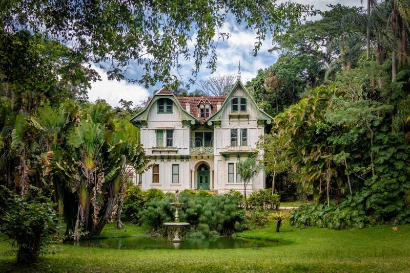 Ipiranga-Haus oder Tavares Guerra Mansion - Petropolis, Rio de Janeiro, Brasilien lizenzfreie stockfotografie